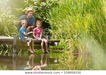 отцом · сына · рыбалки · человека · морем · деревья · портрет - Сток-фото © photography33
