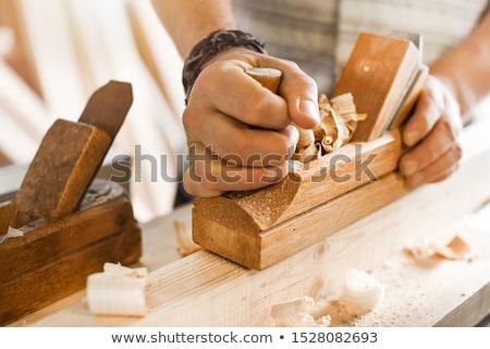 大工 彫刻刀 木材 男性 ワーカー 色 ストックフォト © photography33