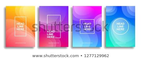 colorful wavy background stock photo © saicle