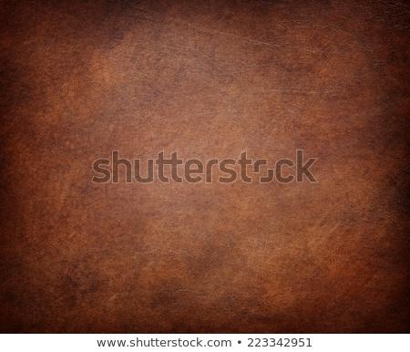 barna · természetes · bőr · címke · koszos · farmer - stock fotó © homydesign
