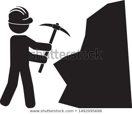 Miner using pick-Axe Stock photo © photography33