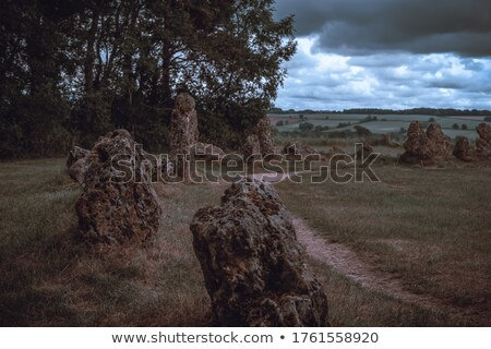Rollright Stones stone circle in Cotswolds Stock photo © backyardproductions