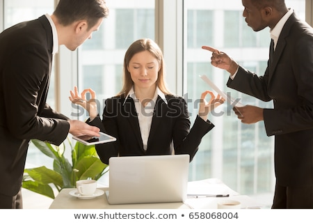 Woman disturbed by her laptop Stock photo © photography33