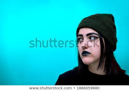 portrait of a cute blonde curled witch Stock photo © carlodapino