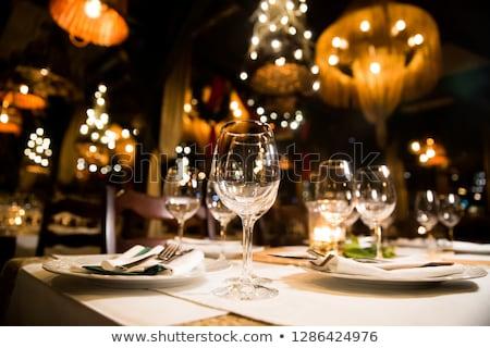 Heldere banket tabel feestelijk avond business Stockfoto © OleksandrO