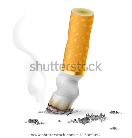 cigarette butts cutout stock photo © suljo