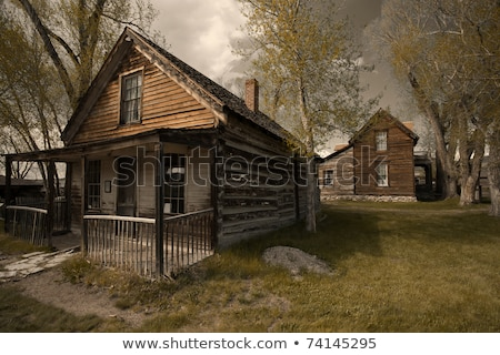 Deserted wooden house Stock photo © Harlekino