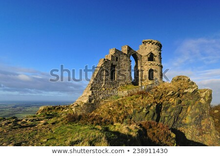 Mow cop castle on rocks Stock photo © morrbyte