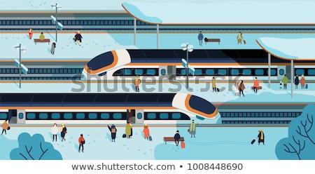 Ingázó vonat utazás hó London háttér Stock fotó © Rob300