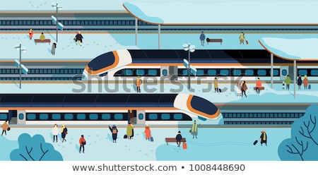 banlieue · train · neige · Londres · fond - photo stock © Rob300