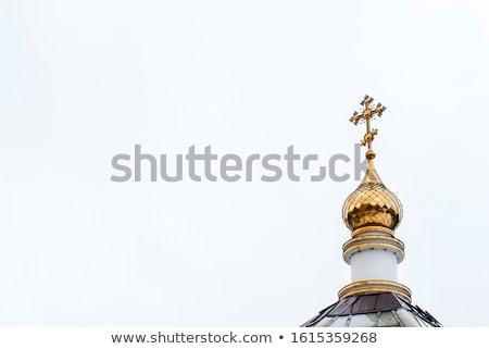 Fehér orosz ortodox templom tipikus kicsi Stock fotó © ryhor
