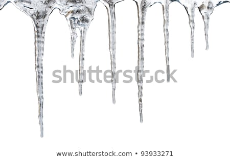 icicles which are hanging down from a roof Stock photo © ultrapro