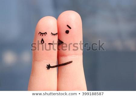 Marido beijando infeliz esposa mulher casal Foto stock © photography33