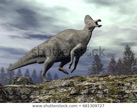 Dinoszaurusz 3d render izolált fehér Stock fotó © AlienCat