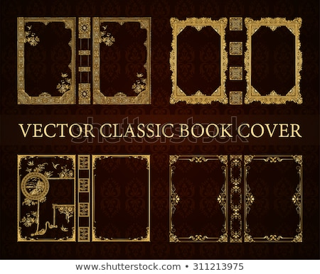 Vintage background for Book cover vector Stock photo © krabata