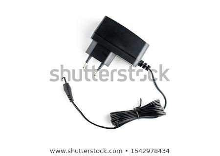 Source de courant noir usb câble rouge isolé Photo stock © boroda