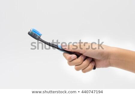 mano · cepillo · aislado · limpio - foto stock © mtkang