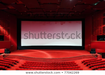 Vermelho quarto cinema luz diversão interior Foto stock © almir1968