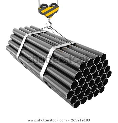 Ilustração 3d gancho guindaste construção aço Foto stock © kolobsek
