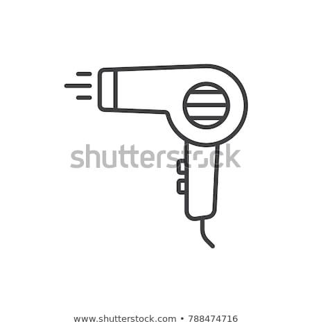 Vektor ikon hajszárító Stock fotó © zzve