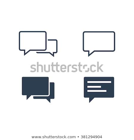 Szövegbuborékok számítógép gomb közösségi média kék üzlet Stock fotó © tashatuvango