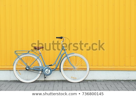 Gear on wheel of modern city bicycle Stock photo © blasbike
