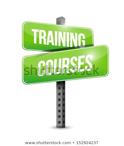 Education Concept Training Courses Roadsign Photo stock © alexmillos