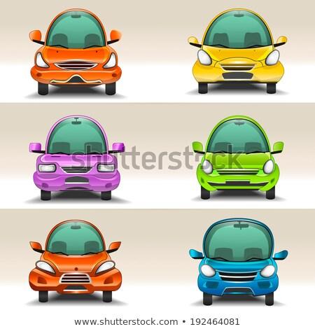オレンジ おもちゃ レースカー フロント 表示 プラスチック ストックフォト © TeamC