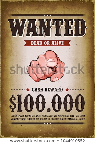 Stock photo: Vintage Wanted