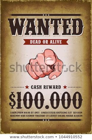 bağbozumu · grunge · aranan · poster · Retro · ölü - stok fotoğraf © vwalakte