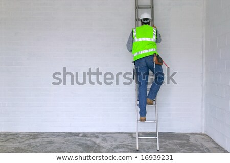 homem · subir · escada · nuvem · balão - foto stock © photography33