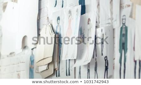 Nő haute couture divat gyönyörű fiatal nő visel Stock fotó © Discovod
