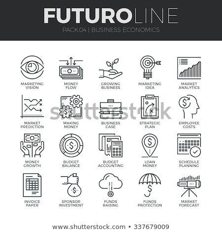 Collection of vector icons for banks and financial companies Stock photo © butenkow