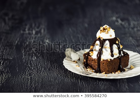 fudge brownie with ice cream stock photo © saddako2