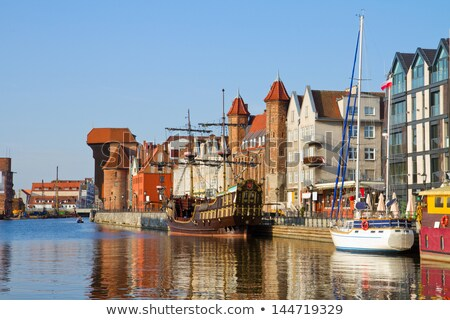 old town waterfront over motlawa river in gdansk poland stock photo © sqback