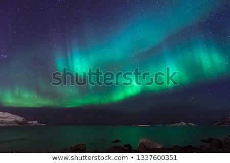 Aurora borealis in sky Stock photo © zzve