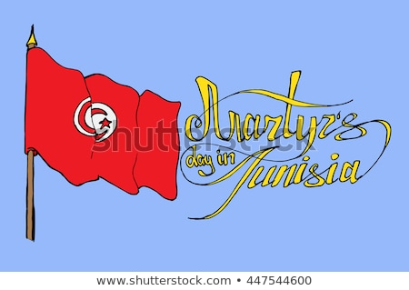 Handdrawn flag of Tunisia Stock photo © claudiodivizia