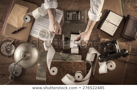 Vintage Bookkeeping Stock photo © cosma
