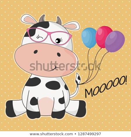 vache · fille · photo · magnifique · art · corporel · Bull - photo stock © pressmaster