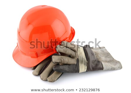 Construcción sombrero guantes aislado blanco reflexión Foto stock © ajn
