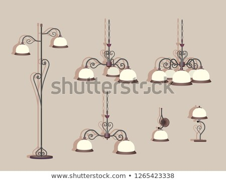 Table lampe lustre antique style Photo stock © yurkina