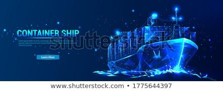 Grande navio mar barco industrial poder Foto stock © jayfish