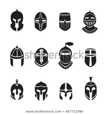 medieval · capacete · branco · cara · homem · máscara - foto stock © cosma