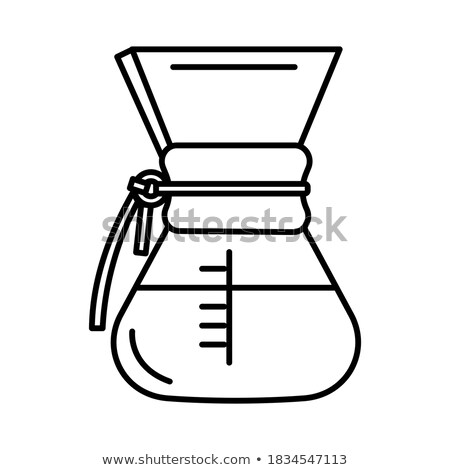 coffee grains in glass vessels Stock photo © ssuaphoto
