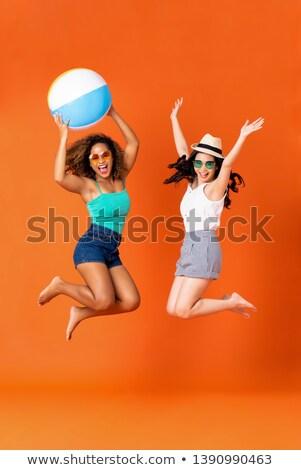 Isolé ballon de plage fille plage main sexy Photo stock © pxhidalgo