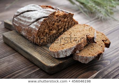 Rozs kenyér fa deszka nyaláb fény étel Stock fotó © cosma