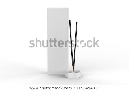 Wierook 3d render evenwichtige witte stenen twee Stockfoto © Elenarts