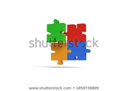 Talent pomarańczowy puzzle biały sztuki edukacji Zdjęcia stock © tashatuvango