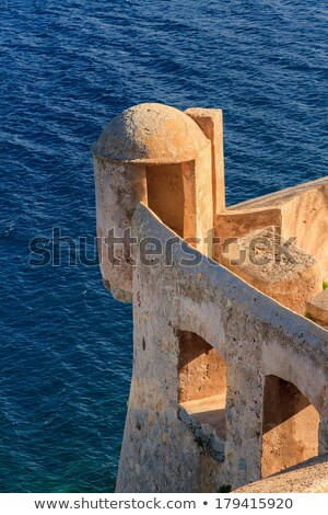 A lookout tower in the citadel at Calvi, Corsica Stock photo © Joningall