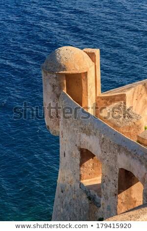 torre · pedras · pedra · blue · sky · mar · água - foto stock © joningall